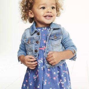 OSHKOSH B'Gosh Baby Girl Knit Denim Jacket